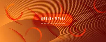 Vector Fluid Flow. Orange Dynamic Wallpaper. 3d Abstract Line. Technology Brochure. Yellow Fluid Flow. Curve Vibrant Layout. Abstract Illustration. Minimal Poster. Futuristic Fluid Flow.