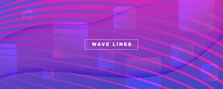 Blue Fluid Stripes. Digital Liquid. 3d Dynamic Wallpaper. Vibrant Vector Poster. Fluid Stripes. Flow Lines Template. Abstract Flow Banner. Pink Fluid Stripes. Creative Website.