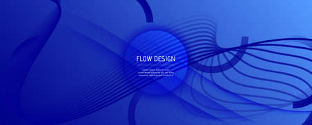 Blue Futuristic Abstract. Creative Layout. 3d Dynamic Movement. Graphic Wave Brochure. Minimal Futuristic Abstract. Flow Line Magazine. 3d Fluid Poster. Blue Futuristic Abstract. 일러스트