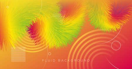 Fluid Dynamics. Flow Flyer. Graphic Template. Liquid Geometric Design. Vibrant Motion. Fluid Dynamics. Bright Abstract Banner. Neon Creative Concept. Gradient Movement. 3d Fluid Dynamics.