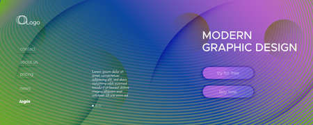 Fluid Geometric Abstract. Wave Gradient Shapes Movement. Colorful Minimal Brochure. Memphis Futuristic Magazine. Geometric Abstract. Flow Stripes. 3d Pattern. Color Geometric Abstract. 矢量图像