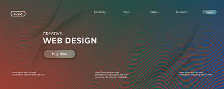 Fluid Geometric Abstract. Color Dynamic Line Landing Page. Red Creative Banner. Modern Gradient Illustration. Flow Stripes. 3d Vivid Background. Futuristic Geometric Abstract. Curve Shape.