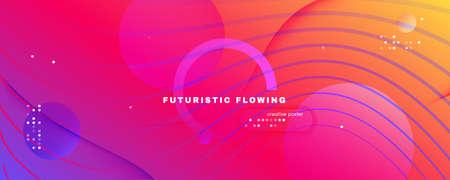 Colorful Fluid Shape. Flow Abstract Stripes. Vector Gradient Lines. Digital Fluid Shape. Modern Pattern. Flow Design. 3d Movement. Dynamic Wallpaper. Bright Template. Fluid Shape.