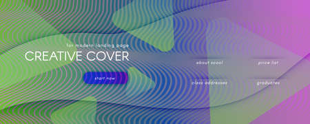Flow Geometric Abstract. Color Dynamic Shape Landing Page. Colorful Minimal Banner. Modern Futuristic Illustration. Geometric Abstract. Fluid Elements. 3d Brochure. Color Geometric Abstract.