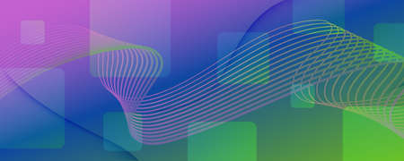 Flow Geometric Abstract. Curve Futuristic Shapes Movement. Colorful Technology Pattern. Graphic Dynamic Illustration. Geometric Abstract. Fluid Motion. 3d Brochure. Color Geometric Abstract.