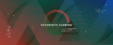 Flow Geometric Abstract. Vector Gradient Shapes Wallpaper. Green Technology Brochure. Memphis Futuristic Illustration. Fluid Concept. 3d Wave Landing Page. Dynamic Geometric Abstract. Color Line.