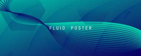 Blue Dynamic Wave. Flow 3d Flyer. Color Geometric Shape. Dynamic Wave. Vibrant Banner. Fluid Elements. Abstract Landing Page. Futuristic Wallpaper. Dark Business Template. Dynamic Wave.