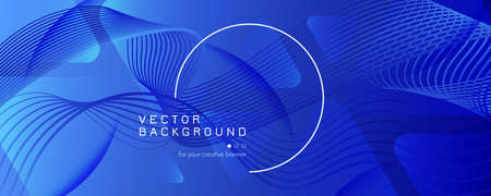 Blue Futuristic Abstract. Digital Layout. 3d Gradient Landing Page. Vibrant Vivid Texture. Technology Futuristic Abstract. Flow Shapes Illustration. 3d Fluid Brochure. Blue Futuristic Abstract. 矢量图像