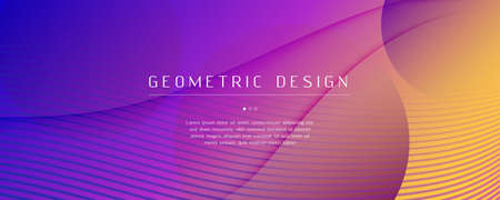 Fluid Abstract. Flow Landing Page. 3d Shape Banner. Vector Futuristic Movement. Bright Digital Illustration. Modern Gradient Design. Wave Fluid Abstract. Creative Flow Dynamic Poster.
