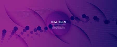 Fluid Background. 3d Flow Shape Movement. Curve Futuristic Poster. Color Digital Template. Purple Wavy Elements. Dynamic Fluid Background. Abstract Brochure. Wave Fluid Background.