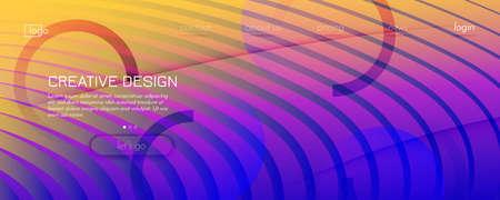 Fluid Abstract. Flow Wallpaper. 3d Shapes Brochure. Vector Gradient Background. Bright Digital Website. Memphis Futuristic Liquid. Curve Fluid Abstract. Creative Flow Geometric Banner.