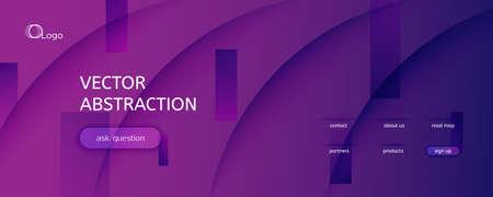 Fluid Background. 3d Flow Line Movement. Color Geometric Pattern. Curve Business Magazine. Violet Wavy Liquid. Gradient Fluid Background. Abstract Texture. Vivid Fluid Background. 矢量图像