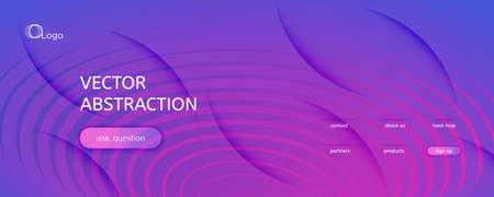 Blue Fluid Stripes. Business Motion. Abstract Futuristic Movement. Vibrant Vivid Texture. Fluid Stripes. Flow Line Illustration. 3d Flow Banner. Purple Fluid Stripes. Technology Template.