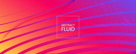 Colorful Fluid Shape. Flow Abstract Liquid. Curve Geometric Lines. Creative Fluid Shape. Graphic Banner. Flow Stripes. 3d Movement. Dynamic Wallpaper. Bright Magazine. Fluid Shape.