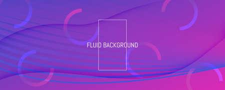 Blue Fluid Stripes. Technology Elements. 3d Futuristic Background. Wavy Color Poster. Fluid Stripes. Flow Shape Illustration. Abstract Flow Pattern. Purple Fluid Stripes. Digital Website.