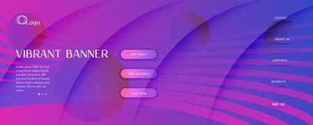 Blue Fluid Stripes. Creative Design. Abstract Geometric Movement. Graphic Color Poster. Fluid Stripes. Flow Line Template. 3d Flow Pattern. Purple Fluid Stripes. Technology Website.