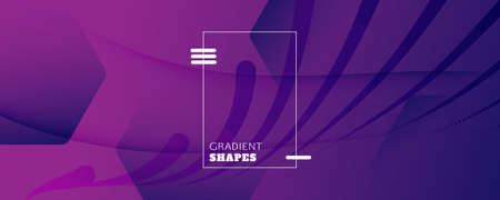 Fluid Background. 3d Flow Shapes Wallpaper. Vivid Futuristic Banner. Vector Business Template. Purple Vibrant Layout. Gradient Fluid Background. Abstract Brochure. Color Fluid Background.