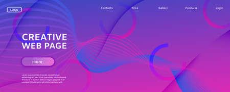 Pink Fluid Stripes. Technology Motion. 3d Geometric Movement. Graphic Vector Pattern. Fluid Stripes. Flow Shapes Illustration. Abstract Flow Banner. Blue Fluid Stripes. Creative Website.