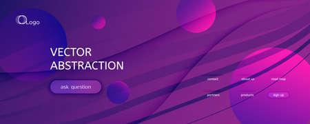 Fluid Background. 3d Flow Line Movement. Vivid Dynamic Pattern. Curve Minimal Magazine. Purple Modern Liquid. Futuristic Fluid Background. Abstract Banner. Wave Fluid Background. 矢量图像