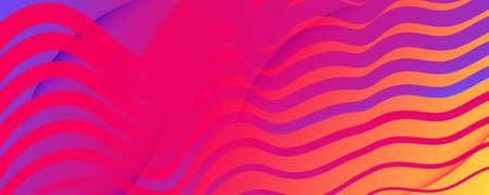 Bright Fluid Shape. Flow Abstract Concept. Vector Geometric Lines. Minimal Fluid Shape. Wavy Poster. Flow Liquid. 3d Movement. Futuristic Landing Page. Colorful Template. Fluid Shape.
