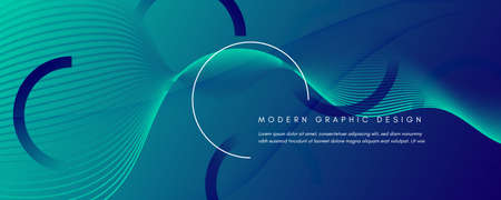 Blue Dynamic Wave. Fluid Abstract Stripes. Vector Gradient Shapes. Dynamic Wave. Modern Brochure. Flow Layout. 3d Landing Page. Futuristic Movement. Dark Technology Website. Dynamic Wave.