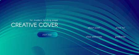 Blue Dynamic Wave. Fluid Abstract Concept. Color Geometric Lines. Dynamic Wave. Memphis Banner. Flow Design. 3d Wallpaper. Futuristic Landing Page. Dark Business Template. Dynamic Wave. 矢量图像