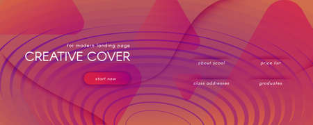 Abstract Fluid Background. 3d Futuristic Layout. Flow Shapes Pattern. Orange Abstract Fluid Background. Curve Wavy Landing Page. Creative Website. Wave Lines. Abstract Fluid Background.