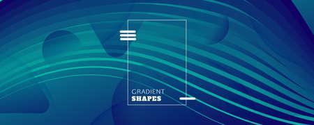 Blue Dynamic Wave. Flow 3d Concept. Curve Gradient Shape. Dynamic Wave. Memphis Brochure. Fluid Layout. Abstract Movement. Geometric Landing Page. Dark Minimal Template. Dynamic Wave. 矢量图像