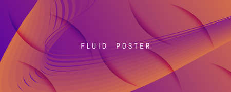 Abstract Fluid Background. 3d Futuristic Flyer. Flow Lines Brochure. Orange Abstract Fluid Background. Color Graphic Movement. Creative Illustration. Curve Shapes. Abstract Fluid Background. 矢量图像