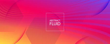 Colorful Fluid Shape. Flow 3d Motion. Wave Futuristic Lines. Minimal Fluid Shape. Modern Brochure. Flow Stripes. Abstract Movement. Gradient Background. Bright Illustration. Fluid Shape.