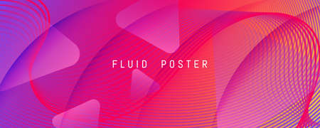 Colorful Fluid Shape. Flow Abstract Elements.