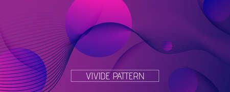 Fluid Background. 3d Flow Lines Wallpaper. Color