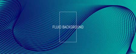 Blue Dynamic Wave. Fluid 3d Flyer. Vivid