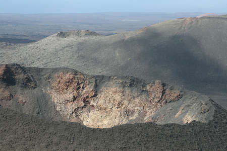 Crater of a vulcano at Lanzarote