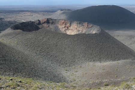 vulcano: Crater of a vulcano at Lanzarote