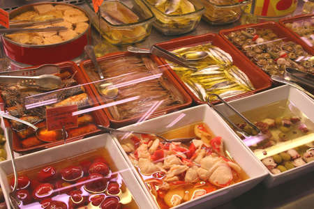 Delicious dishes for sale at the market