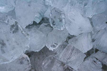 drifting ice: Ice blocks in drifting ice in Holland