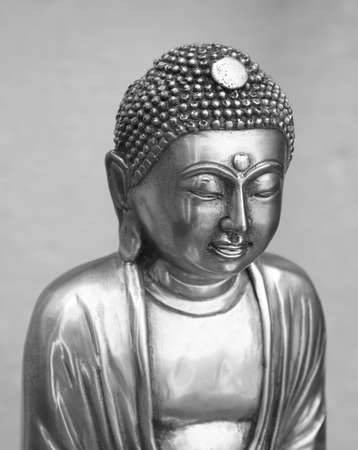 Silver buddha in black and white Stock Photo - 13761949
