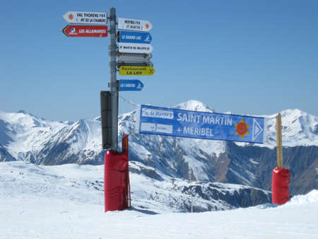 Ski slopes in winter in Saint Martin in France Stock Photo