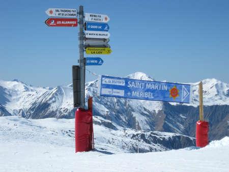 Ski slopes in winter in Saint Martin in France Stock Photo