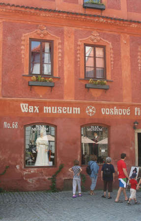 Wax Museum in Cesky Krumlov  Czech Republic  Editorial