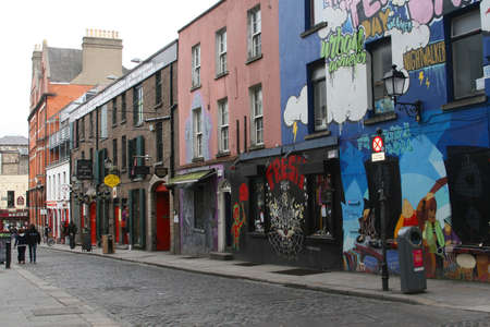 Crown Alley in Temple Bar District (Dublin  Ireland)