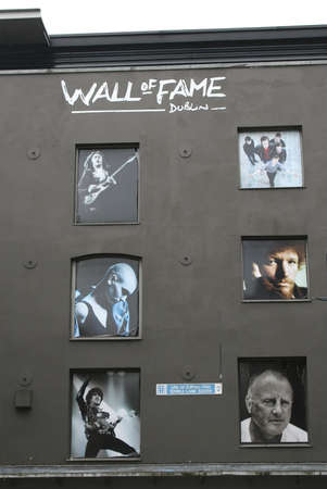 Wall of fame in Temple Lane South (Dublin  Ireland)