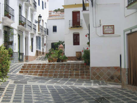 A white village in Andalusia  Spain