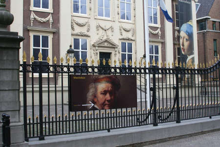 Museum Mauritshuis in The Hague with paintings of Rembrandt, Potter, Vermeer