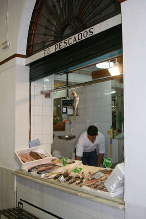 A shop is selling fresh fish in Andalusia (Spain)