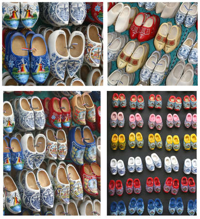 Traditional wooden shoes from Holland Stock Photo - 15091385