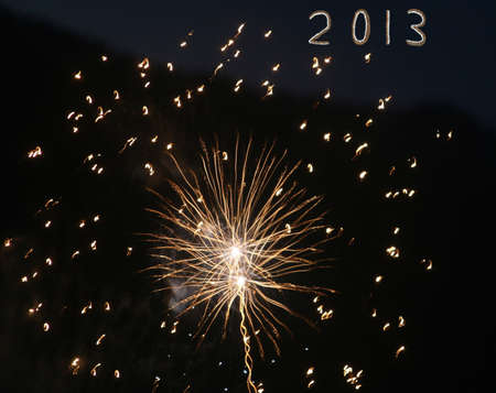 Happy New Year in 2013 when dreams come true Stock Photo - 15241168