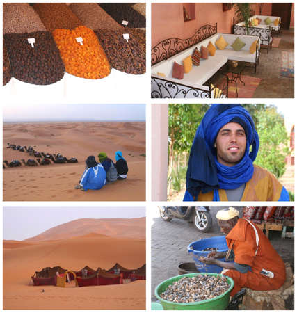 Collage of Morocco Editorial