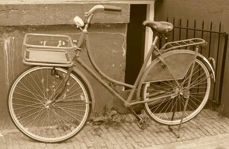 Old bike in sepia